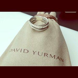 🌵 David Yurman Diamond Crossover Ring 🌵
